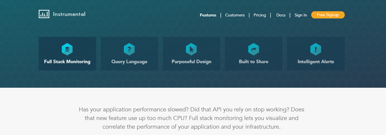 Instrumental is an APM tool to consider