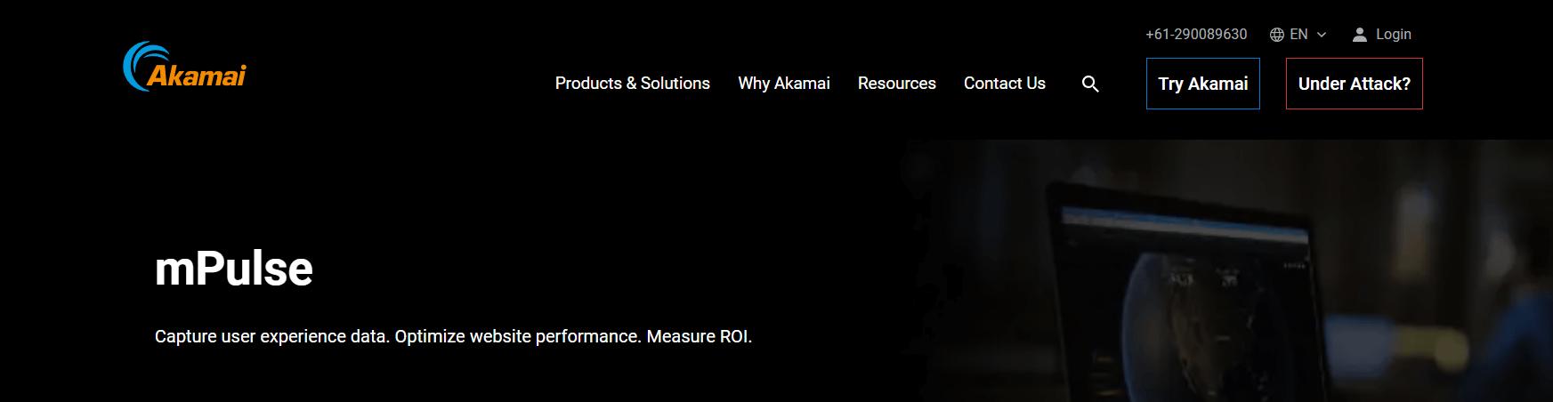 Screenshot showing Akamai's RUM
