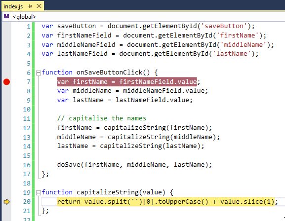 Debug JavaScript in Visual Studio in 7 easy steps [2019