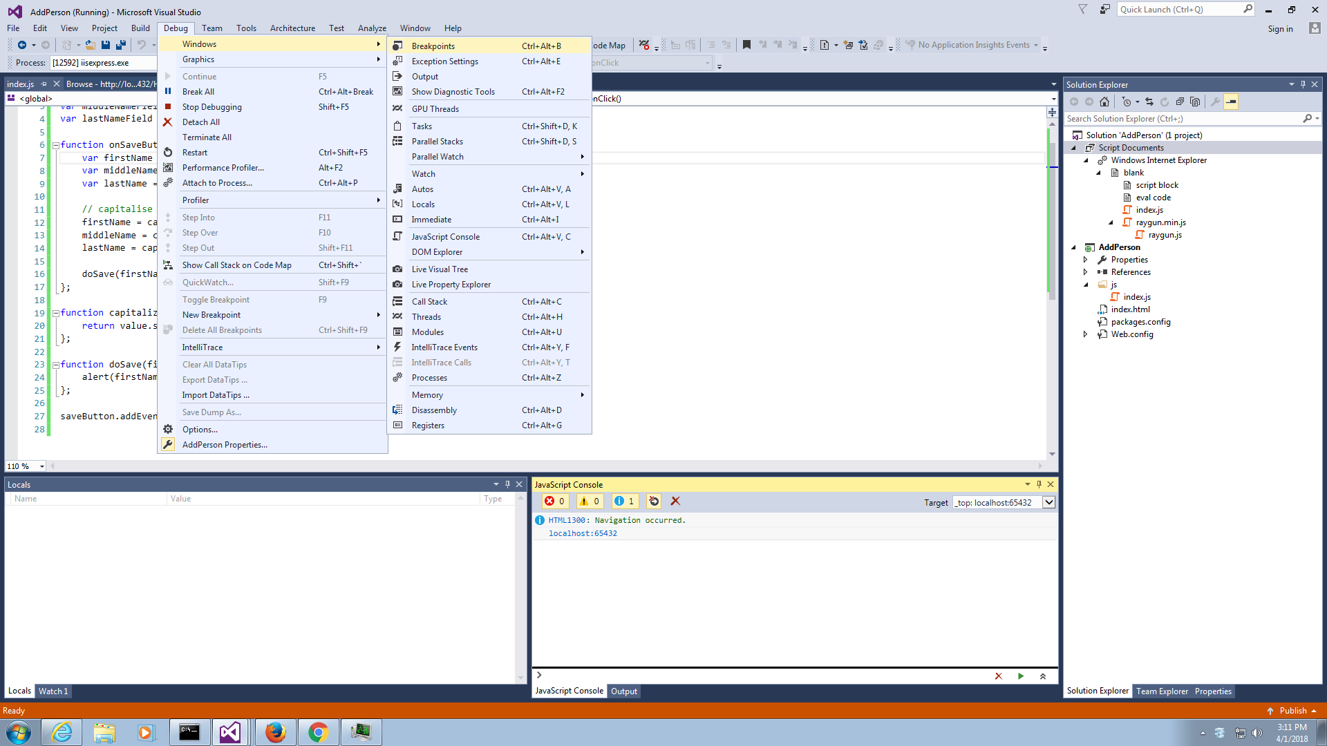 Debug JavaScript in Visual Studio in 7 easy steps [2019] · Raygun Blog
