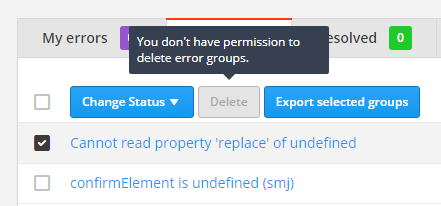 If plan permissions are turned off, you will see this message