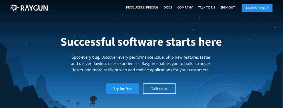 La plataforma de Raygun es una herramienta de monitoreo de servidor.