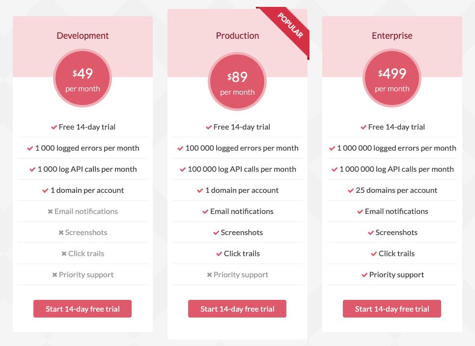 CatchJS Pricing