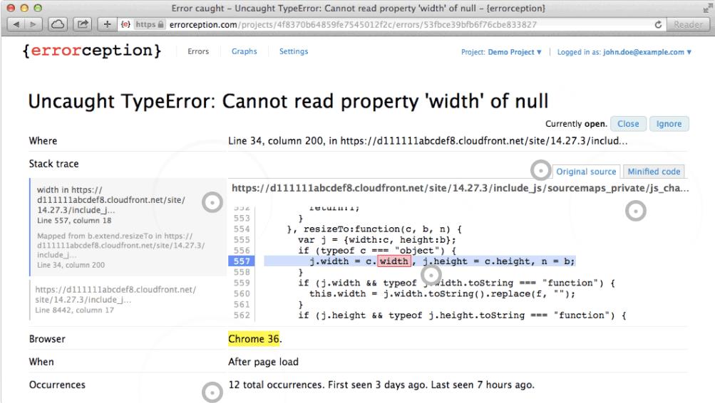 Errorception UI