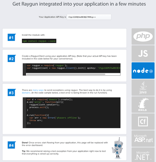 Getting started with Raygun just got easier