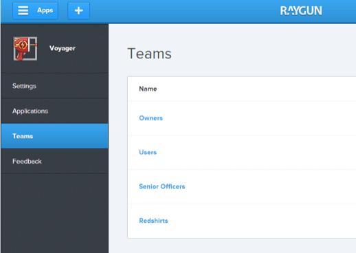 team list