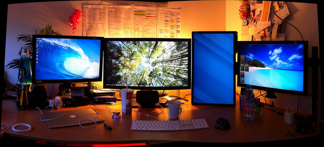 Developer desk setup