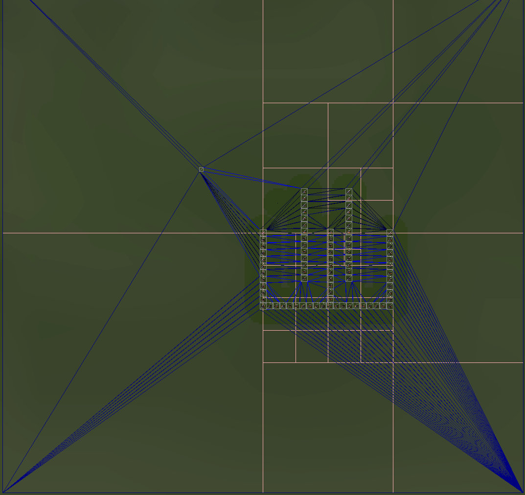 Triangles and pathfinding for web games making a navigation system above you can see an area partitioned into triangles this is another simple way to partition space given a set of adjacent triangles you can find a path ccuart Images