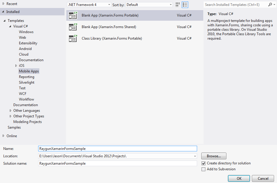 Xamarin Forms Project