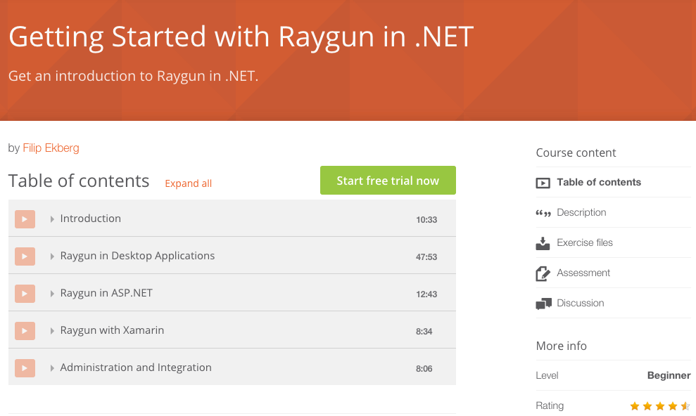 Feature image for Pluralsight Course For Raygun Now Available!