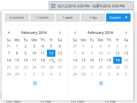 the date and time picker is one feature of the error group list