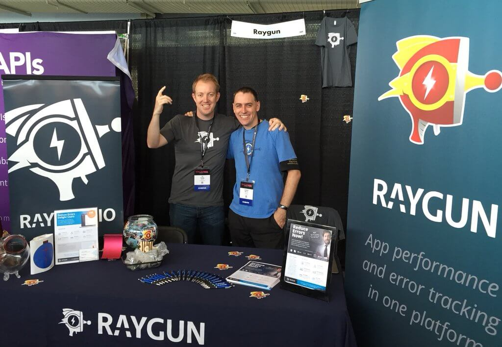 Raygun Booth at the Developer Week tech events