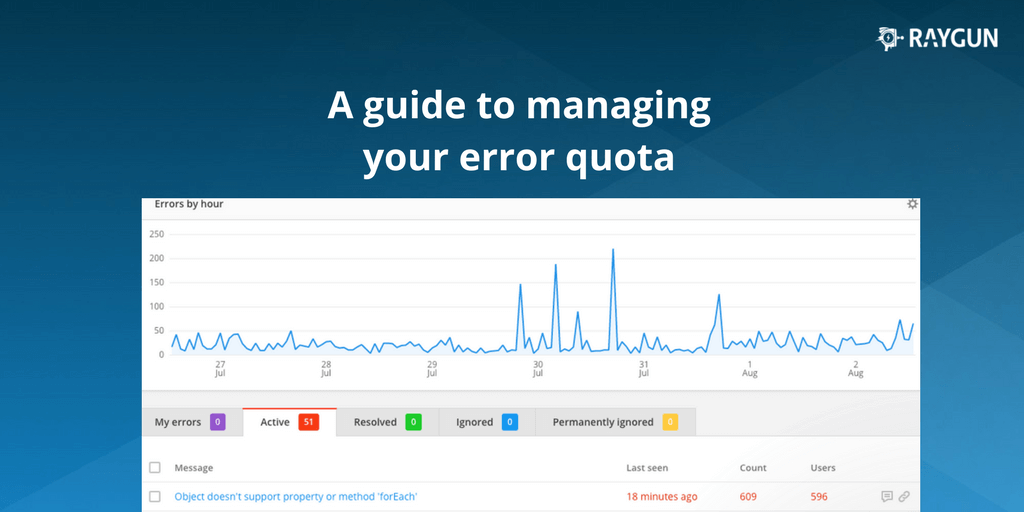 A guide to manage your Raygun quota effectively