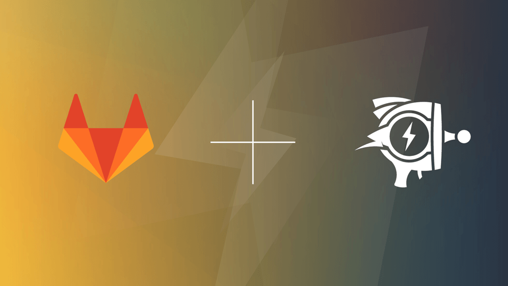 Raygun and Gitlab logos together