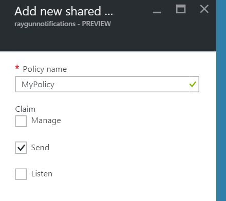 Azure Service Bus has the ability to Add new shared.