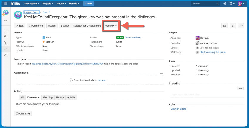 how to create jira support ticket