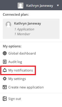 manage email notifications properly by starting in the my notifications tab
