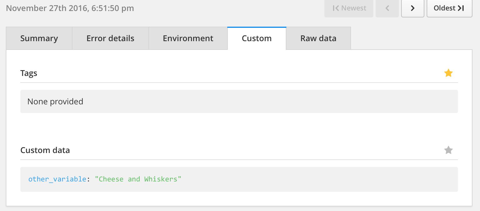 aws lambda custom data result