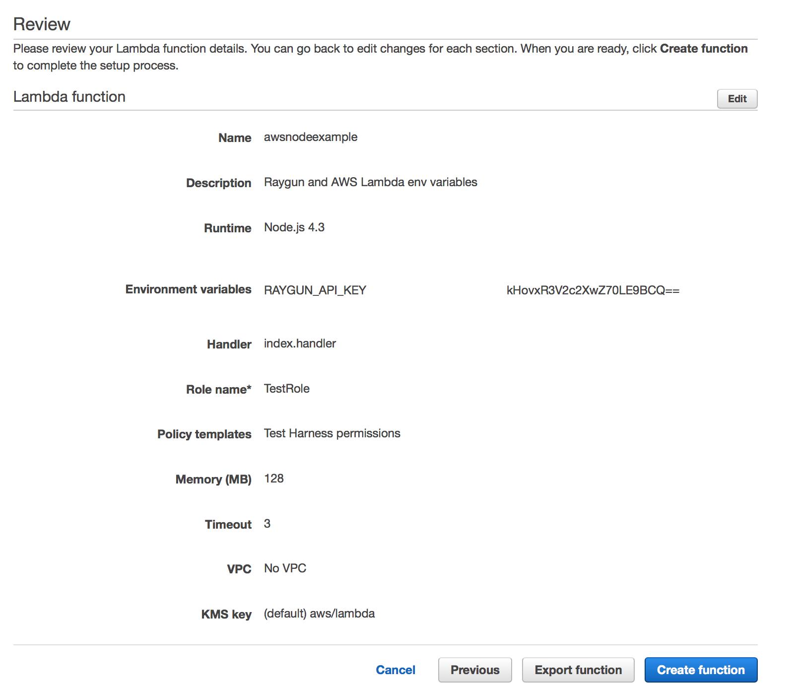 aws lambda review function