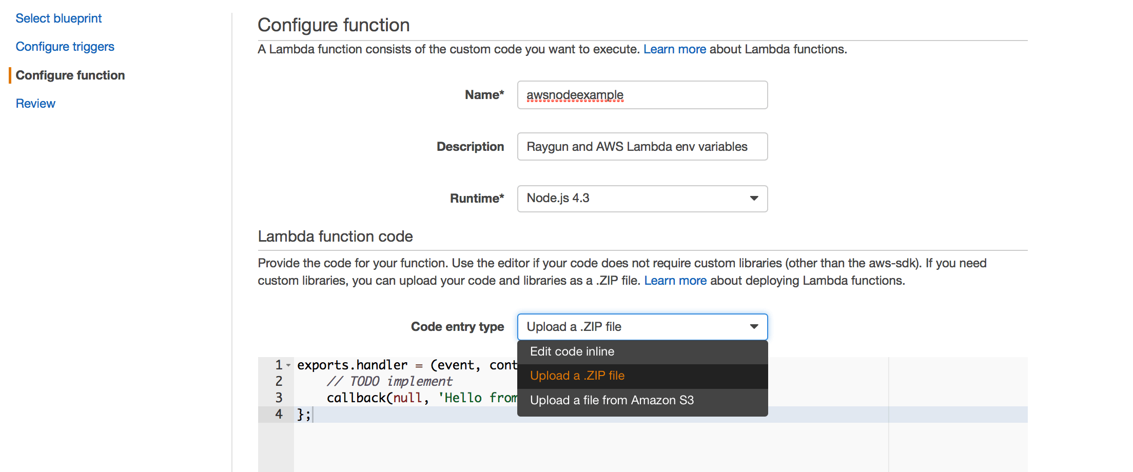 AWS Lambda environment variables and Raygun · Raygun Blog