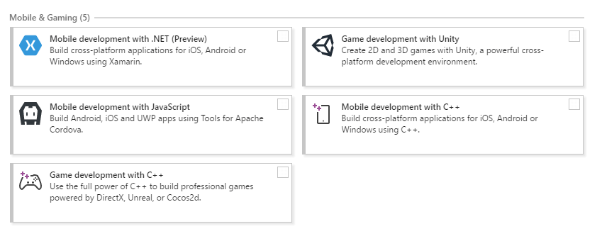 mobile development was an important testing feature for this Visual Studio 2017 RC review