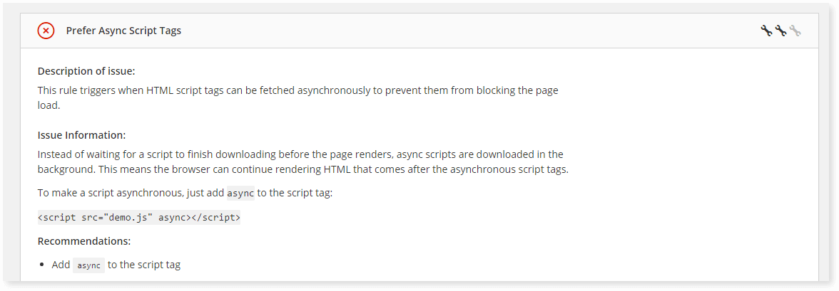 Prefer async tags is a good way to improve website performance