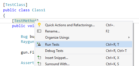 The Visual Studio Unit testing framework is easy to use