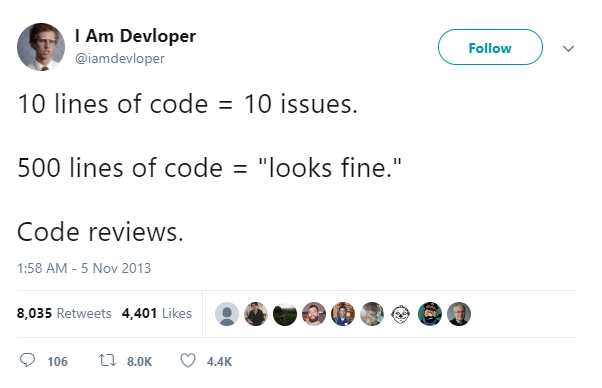 10 lines of code = 10 issues
