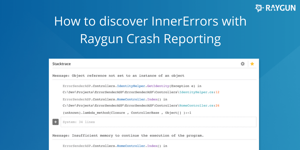 Discover you InnerErrors with Raygun Crash Reporting