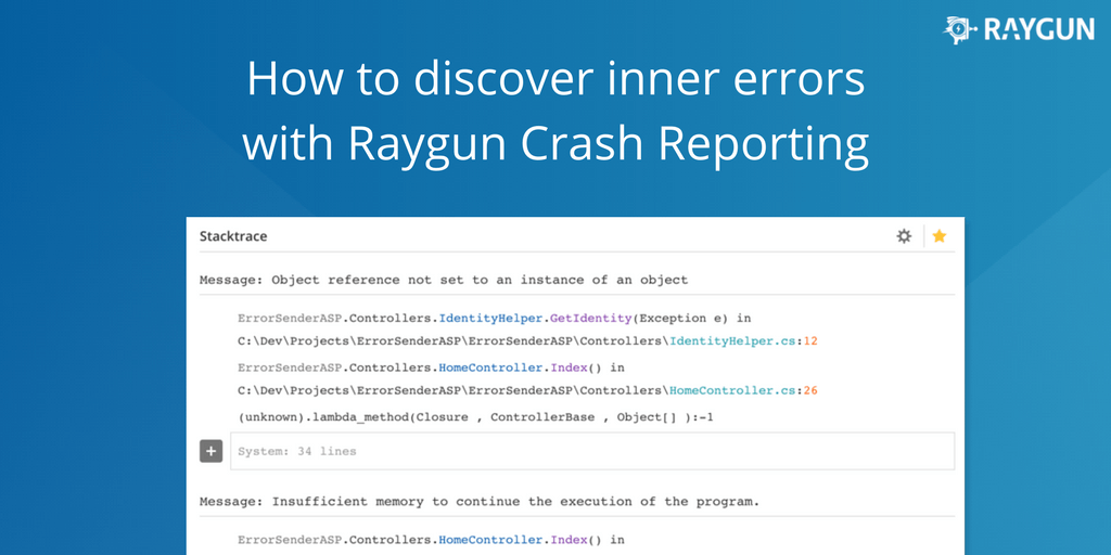 How to discover InnerErrors with Raygun Crash Reporting