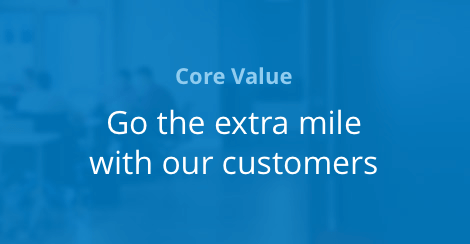 Go the extra mile with our customers