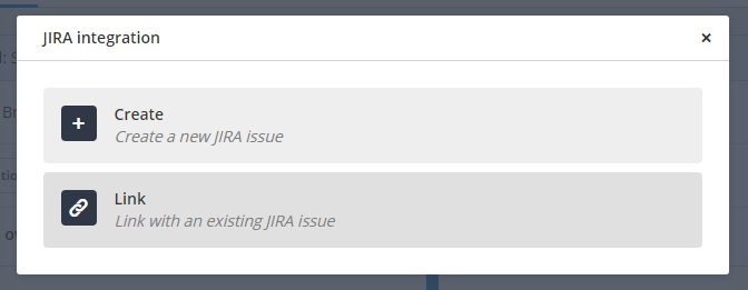 JIRA Create a new issue button
