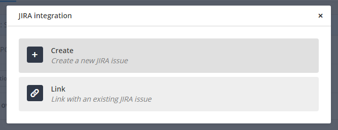 JIRA Link to issue button