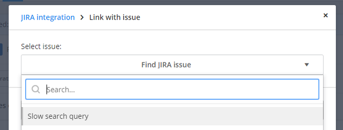 Find JIRA issue: selected.
