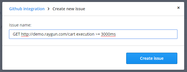 Create new issue field