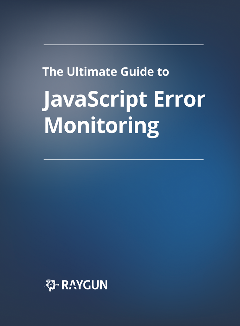 Front page of the EBook Ultimate Guide To Javascript Error Monitoring