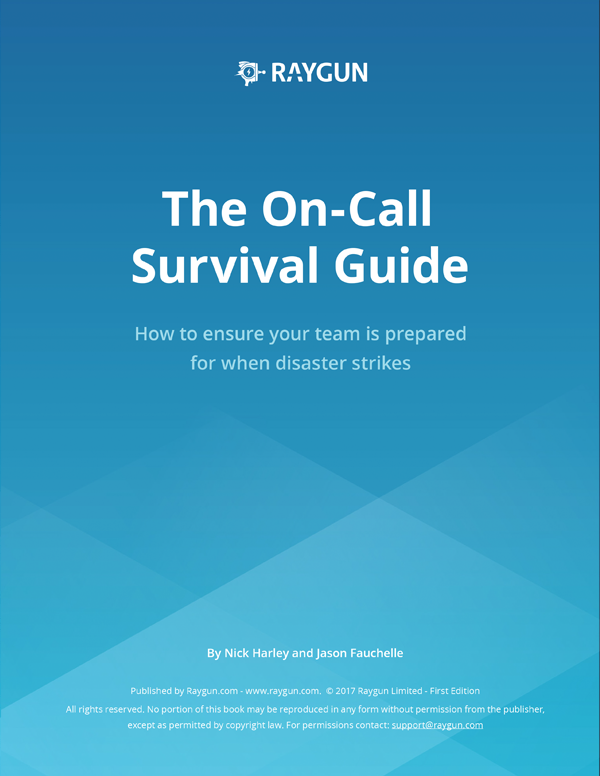 Front page of the on-call ebook