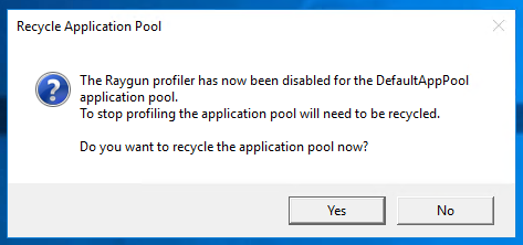 Recycle the application pool